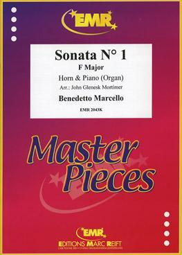 Picture of Sheet music  for french horn (Eb/F); piano or organ by Benedetto Marcello. Sheet music for french horn in Eb or F and piano