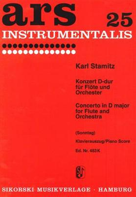 Picture of Sheet music for flute and piano by Karl Stamitz
