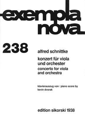 Picture of Sheet music for viola and piano by Alfred Schnittke