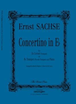 Picture of Sheet music  for trumpet (Bb/Eb) or cornet; piano. Sheet music for trumpet in Bb or Eb or cornet and piano by Ernst Sachse