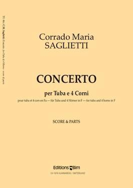 Picture of Sheet music for tuba and piano by Corrado Saglietti