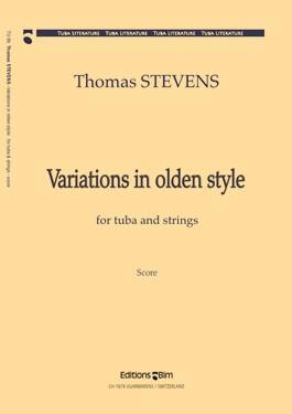 Picture of Sheet music  by Thomas Stevens. Sheet music for tuba in Bb, C or Eb and piano, harpsichord or organ