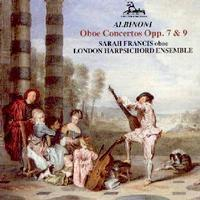 Picture of CD of oboe concertos by Albinoni performed by Sarah Francis with the London Harpsichord Ensemble