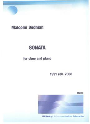Picture of Sheet music  for oboe and piano by Malcolm Dedman. This Sonata is in three movements and explores aspects of minimalism.