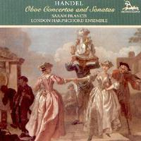 Picture of CD of oboe concertos and sonatas by Handel performed by Sarah Francis and the London Harpsichord Ensemble