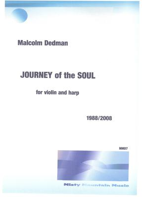 Picture of Sheet music  by Malcolm Dedman. This is a piece for violin and harp and is a meditation on scriptures from three different religions.