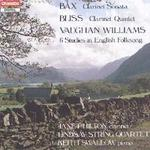 Picture of CD of music for clarinet, piano and string quartet by Bax, Bliss and Vaughan Williams performed by Janet Hilton, Keith Swallow and the Lindsay Quartet