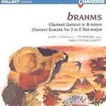 Picture of CD of the Brahms Clarinet Quintet and Sonata No.2 for Clarinet performed by Janet Hilton, Peter Frankl and the Lindsay Quartet