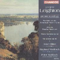 Picture of CD of selected chamber works by Kenneth Leighton performed by Janet Hilton, Raphael Wallfisch and Peter Wallfisch