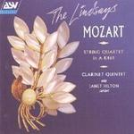 Picture of CD of the Mozart Clarinet Quintet performed by Janet Hilton and The Lindsay String Quartet, partnered by Mozart String Quartet in A K464