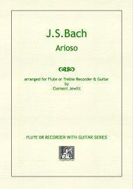 Picture of Sheet music  for flute, treble recorder and guitar by Johann Sebastian Bach. A little gem of a melody