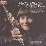 Picture of CD of the Weber Concertos and Concertino for clarinet and orchestra performed by Janet Hilton and the City of Birmingham Symphony Orchestra conducted by Neeme Jarvi