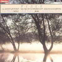 Picture of CD of chamber works by Weber for clarinet, piano and string quartet performed by Janet Hilton, Keith Swallow and The Lyndsay String Quartet