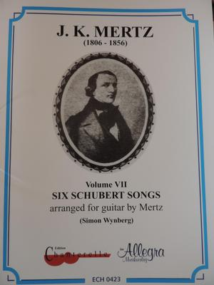 Picture of Sheet music for guitar solo by Franz Schubert and Johann Mertz