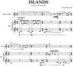 Picture of Sheet music  by Donald Bousted. Islands is a 5 minute piece for flute (or oboe) and harp written in 1990.