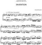 Picture of Sheet music  by Donald Bousted. Invention and Chords is a lively, unexpected composition for piano.
