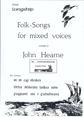 Picture of Sheet music  for voices and chorus. Download - Sheet music for SATB, with soloists, of three Icelandic folksongs, arranged by John Hearne.  This purchase provides a licence to make up to 16 copies.