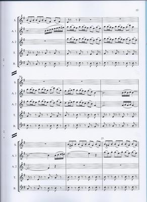 Picture of Sheet music  for descant recorder, treble recorder, treble recorder, tenor recorder and bass recorder by Andrew Challinger. Two pieces for Recorders (SAATB) - the first a languid blues, the second a rhythmical dance in 10/8 time. Quite difficult.