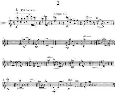 Picture of Sheet music  by Donald Bousted. 5 Quarter-Tone Pieces are solo pieces written for Alto and Tenor recorder.
