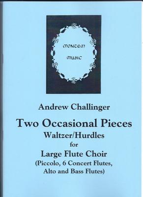 Picture of Sheet music  by Andrew Challinger. These two pieces - Waltzer and Hurdles - were originally re-worked from the recorder originals for a flute workshop event. They have now been revised again for piccolo, 6 concert flutes, alto and bass flute.