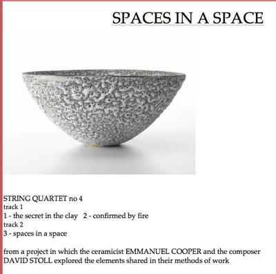 Picture of Third movement of String Quartet 4 (SPACES IN A SPACE) - spaces in a space