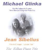 Picture of CD of piano trios by Michael Glinka and Jean Sibelius performed by the Edlian Piano Trio