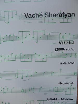 Picture of Sheet music for viola solo by Vaché Sharafyan