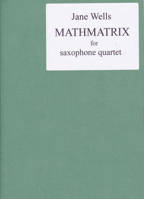 Picture of Sheet music  for soprano sax, alto sax, tenor sax and baritone sax by Jane Wells. A good recent addition to the quartet repertoire written specifically for saxophones. The piece is in eight short contrasting sections and, for clarity of ensemble, four player scores are supplied - with no page turn issues!