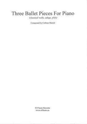 Picture of Sheet music  for piano. PIano music for ballet classes by Colleen Muriel.