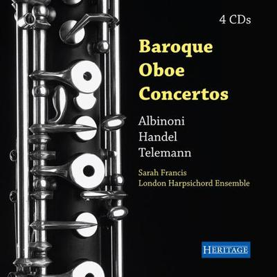 Picture of Baroque Oboe Concertos by Albinoni, Handel and Telemann on 4 CDs,  Sarah Francis oboe/oboe d'amore, flute Graham Mayger viola d'amore Elizabeth Watson.  London Harpsichord