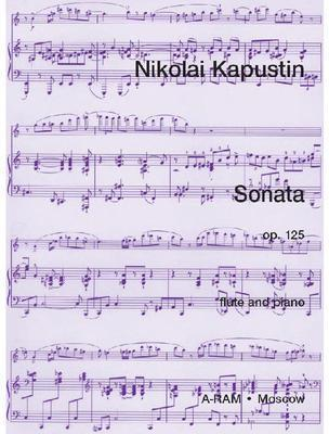 Picture of Sheet music for flute and piano by Nikolai Kapustin