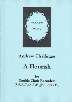 Picture of Sheet music  for descant recorder, treble recorder, tenor recorder and bass recorder by Andrew Challinger. A short celebratory piece for double-choir recorder group in eight parts - from descant to great bass with an optional contrabass part. Not too difficult, though some passages need a bit of work.