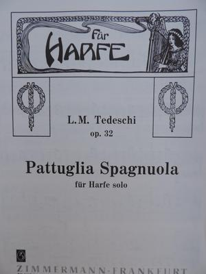 Picture of Sheet music for harp solo by Luigi Tedeschi