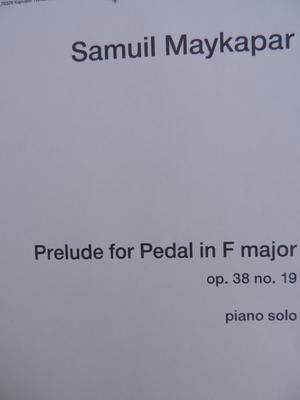 Picture of Sheet music for piano solo by Samuil Maykapar