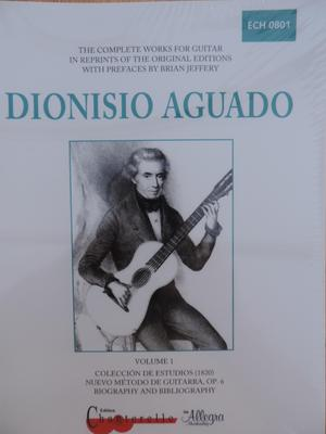 Picture of Sheet music for guitar solo by Dionisio Aguado