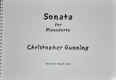 Picture of Sheet music  by Christopher Gunning. Full score, piano sonata in 5 movements, approx 25 minutes. Recorded by Diana Brekalo. Discovery - DMV 117