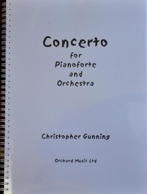 Picture of Sheet music  by Christopher Gunning. Full score, concerto for pianoforte and  orchestra in 3 movements, approx 25 minutes