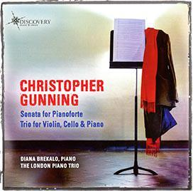 Picture of Christopher Gunning Sonata for Pianoforte.  Trio for Violin, Cello & Piano. Performed by Diana Brekalo and London Piano Trio. DMV117