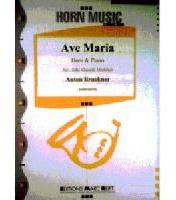 Picture of Sheet music for french horn in Eb or F and piano by Anton Bruckner
