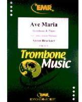 Picture of Sheet music  for trombone (bc/tc) and piano. Sheet music for tenor trombone (bass clef or treble clef) and piano by Anton Bruckner