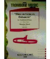 Picture of Sheet music  for trombone (bc/tc) and piano. Sheet music for tenor trombone (bass clef or treble clef) and piano by Maurice Ravel