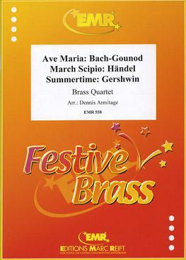 Picture of Sheet music  for 2 trumpets (Bb/C) or cornets; french horn (Eb/F) or trombone (bc/tc); trombone (bc/tc), euphonium or tuba (Bb/C); piano or organ (optional) by [Album]. Sheet music for 2 trumpets in Bb or C or cornets, french horn in Eb of F or tenor trombone in bass or treble clef, tenor trombone in bass or treble clef, euphonium or tuba in Bb or C and optional piano or organ
