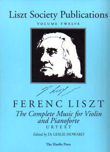 Picture of Sheet music for violin and piano by  Franz Liszt