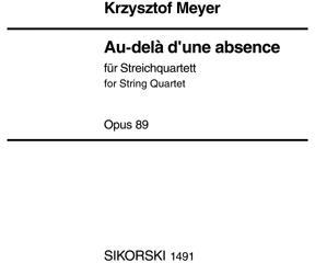 Picture of Sheet music for 2 violins, viola and cello by Krzysztof Meyer