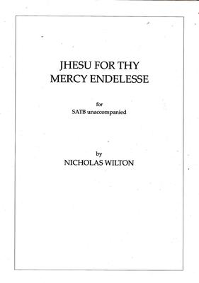 Picture of Sheet music  for chapel choir. A setting of the old English carol text for unaccompanied SATB by Nicholas Wilton