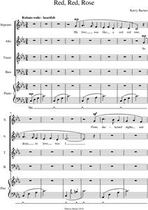 Picture of Sheet music  for voice and instruments by Kerry Barnes. Choral work for mixed adult choir SATB with full piano accompaniment. A story of 'love lost'. Heartfelt and romantic rubato waltz in C minor. Tender, wistful, passionate and dramatic.