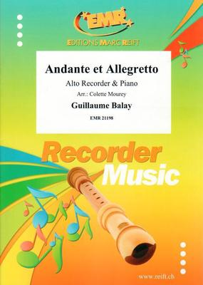 Picture of Sheet music for alto/treble recorder and piano by Guillaume Balay