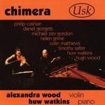 Picture of CD of contemporary music for  violin and piano performed by Alexandra Wood (violin) and Huw Watkins (piano)