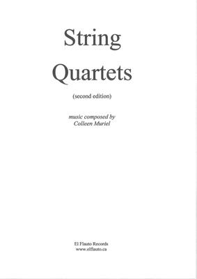 Picture of Sheet music  for 2 violins, viola and cello by Colleen Muriel. Three fairly straightforward String Quartets. One in a very traditional style and the others a bit more free but still using very traditional notation. Lovely for concerts.