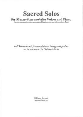 Picture of Sheet music  for mezzo-soprano, alto, piano, flute and organ by Colleen Muriel and Genevan Psalter. This collection of solos has something for everyone.  There are beautiful melodies with unexpected and interesting accompaniments which serve to bring out the beauty of the singers voice.